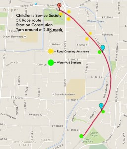 Keep Children Safe 5K race map